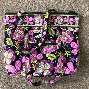 Vera Bradley Pirouette Pink Iconic Tote